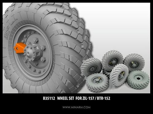 MINIARM B35112 Набор колес ЗиЛ-157 / БТР-152 (6 шт + запаска) 1:35 35112