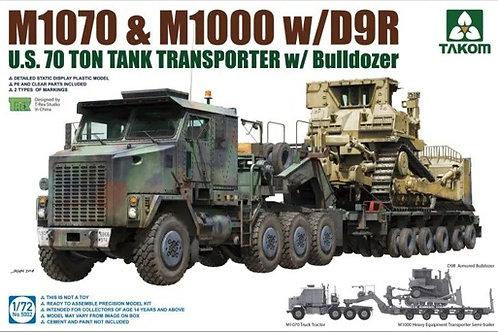 Американский тягач M1070, полуприцеп 70 тонн и бульдозер D9R - Takom 1:72 5002