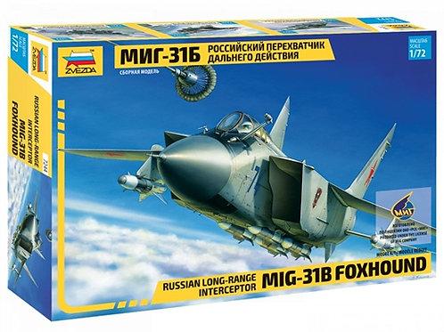 7244 Звезда 1/72 Российский перехватчик дальнего действия МиГ-31Б (перевыпуск)