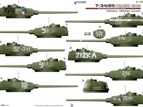 35046 Colibri Decals 1/35 Декали Т-34-85 завод 183 (Прага 1945 года)