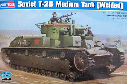 Советский танк Т-28 (сварная башня) - Hobby Boss 1:35 83852