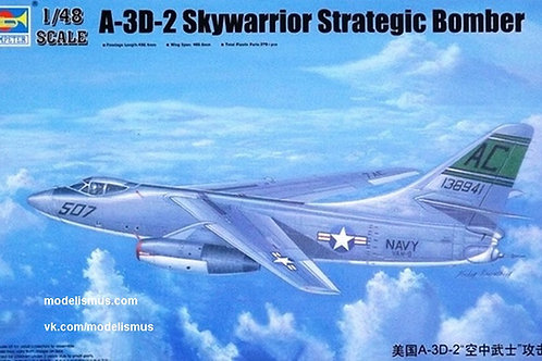 Самолет A-3D-2 Skywarrior Strategic Bomber - Trumpeter 1:48 02868