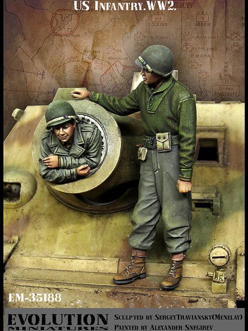 """Evolution Miniatures 1/35 EM-35188 - Два пехотинца США осматривают """"Штурмтигр"""""""
