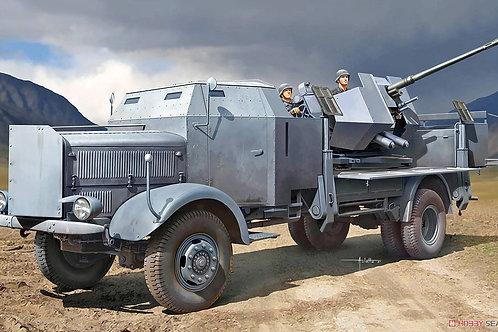 Немецкий грузовик L4500A с зениткой 3.7cm Flak 37 - Trumpeter 1:35 09593
