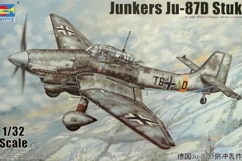 Немецкий самолет Юнкерс Ю-87Д Штука, Junkers Ju-87D Stuka - Trumpeter 1:32 03217