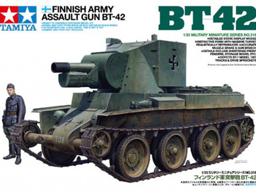 Штурмовое орудие БТ-42, армия Финляндии - Tamiya 35318 1:35
