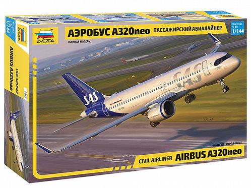 7037 Звезда 1/144 Пассажирский авиалайнер Аэробус A320NEO Airbus