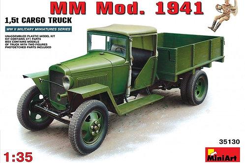 35130 MiniArt 1/35 Советский грузовик ГАЗ-ММ обр. 1941 года + фигурка водителя