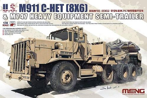 Тягач M911 с полуприцепом M747 сборная модель - Meng Model SS-013 1:35