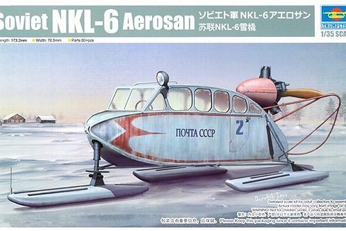Советские аэросани НКЛ-6, Soviet NKL-6 Aerosan - Trumpeter 1:35 02355
