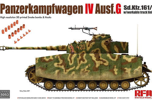 (предзаказ) Pz.Kpfw.IV Ausf. G, рабочие траки - Rye Field Model 1:35 RM-5053