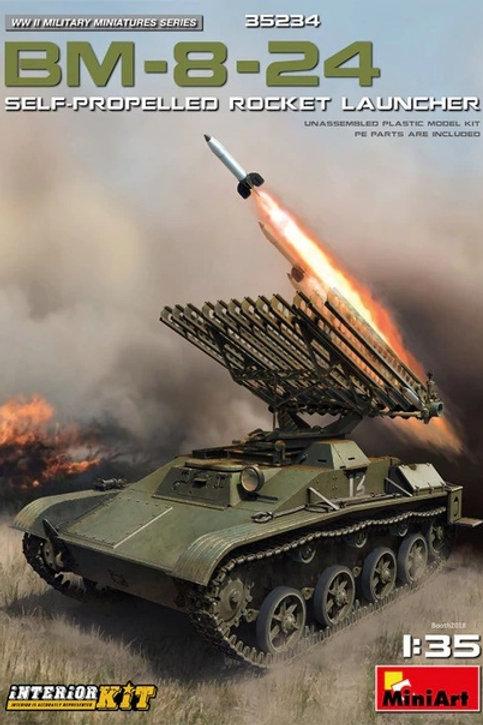 Ракетная установка БМ-8-24 с интерьером - MiniArt 35234 1:35