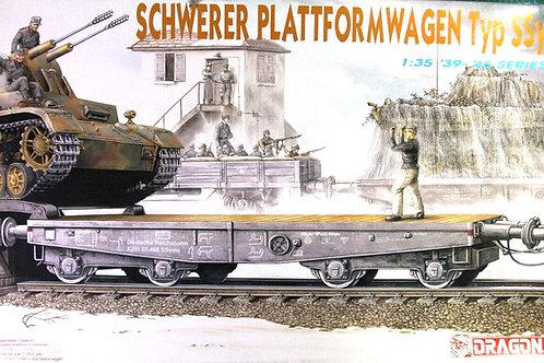 (под заказ) Немецкая платформа Schwerer Plattformwagen Typ Ssys Dragon 1:35 6069