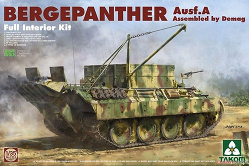 Bergepanther Ausf.A Assembled by Demag Full Interior Kit - Takom 2101 1/35