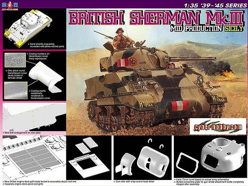 (под заказ) British Sherman Mk.III Mid Production Sicily - Dragon 6231 1:35