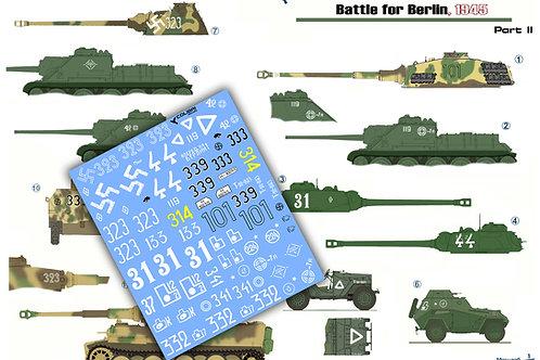 35051 Colibri Decals 1/35 Декали Битва за Берлин 1945, часть 2