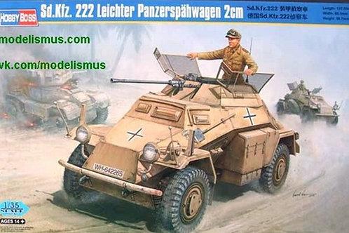 Немецкий броневик Sd.Kfz. 222 с 20-мм пушкой - Hobby Boss 82442 1:35