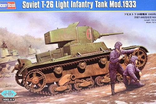 Советский легкий танк Т-26 мод. 1933 года - Hobby Boss 82495 1:35