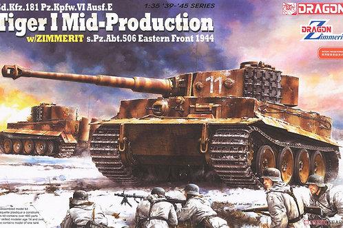 Танк Тигр основная серия с циммеритом - Dragon 6624 1:35 (DS)
