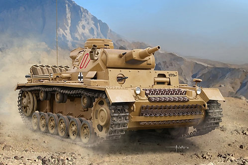 (под заказ) Pz.Kpfw.III Ausf.N sPz.Abt.501 DAK, интерьерный - Dragon 6956 1:35