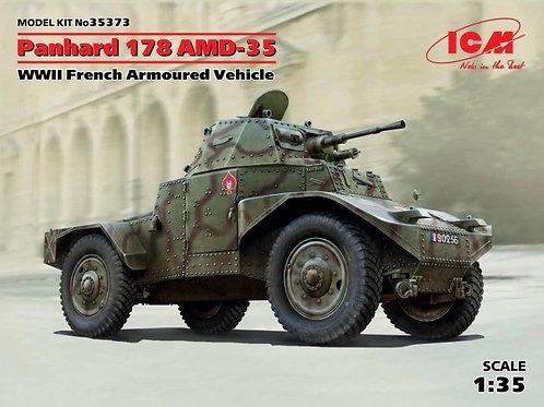"""Panhard 178 AMD-35, 2МВ бронеавтомобиль """"Панар"""" с интерьером - ICM 35373 1/35"""