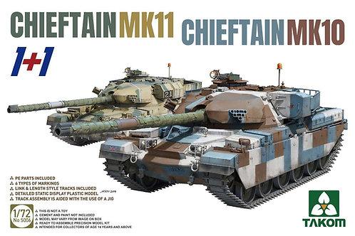 2 танка Chieftain Mk.10 + Chieftain Mk.11 - Takom 1:72 5006