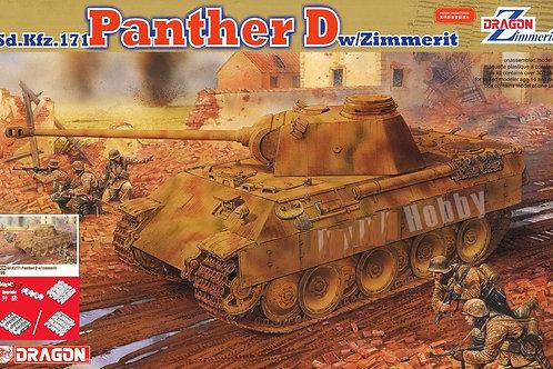 (анонс 2022) Dragon 6428 1/35 Пантера Д, Sd.Kfz.171 Panther D w/Zimmerit (Magic)