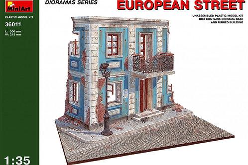 36011 MiniArt 1/35 Европейская улица (набор для диорамы)