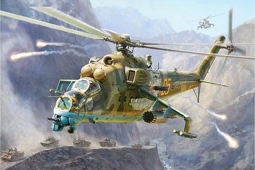 Звезда 4823 1/48 Российский вертолет Ми-24 В/ВП