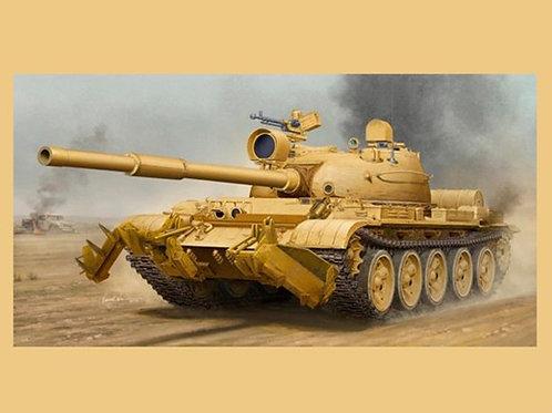Танк Т-62 мод. 1962 (Ирак) с минным тралом КМТ-6 - Trumpeter 01547 1:35
