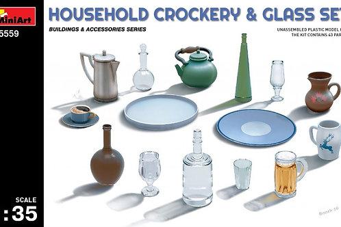 Набор бытовой посуды - 35559 MiniArt 1/35