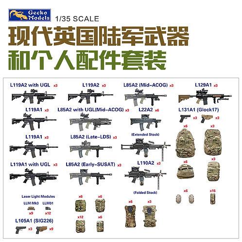 (под заказ) Modern British Army Weapon & Equipment - Gecko Models 1:35 35GM0026