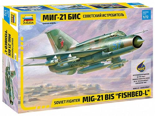 7259 Звезда 1/72 Советский истребитель МиГ-21 бис