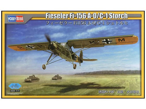 "Немецкий самолет ""Шторх"", Fieseler Fi-156 A-0/C-1 Storch - Hobby Boss 1:35 80180"