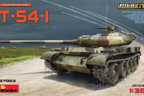 (под заказ) Советский танк Т-54-1 с полным интерьером - MiniArt 1:35 37003
