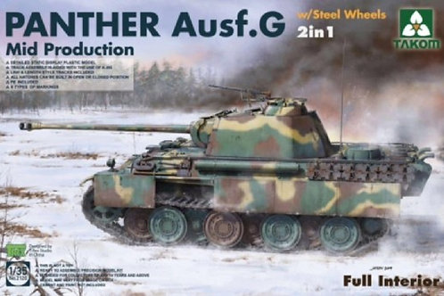 Panther Ausf. G Mid Prod, Steel Wheels 2 in 1 - Takom 1:35 2120