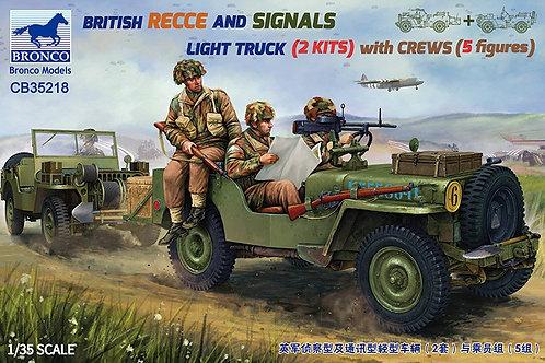 2 британских внедорожника + экипаж 5 фигурок - Bronco 1:35 CB35218