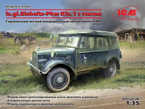 ICM 35582 Немецкий внедорожник le.gl.Einheitz-Pkw Kfz.1 с тентом, 1:35
