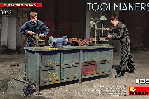(под заказ) Набор двух слесарей за станком, Toolmakers - MiniArt 1:35 38048