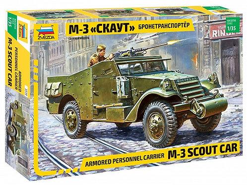 """3519 Звезда 1/35 Американский БТР М-3 """"Скаут"""" (открытый верх) ленд-лиз, M3 Scout"""