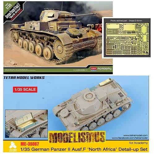 (предзаказ) *КОМБО 1+1* Pz.II Ausf. F DAK Academy 1:35 13535 + ТРАВЛО