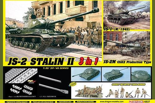(под заказ) Советский танк ИС-1 / ИС-2 / ИС-2М - Dragon 1:35 6537 +БОНУС фигурки