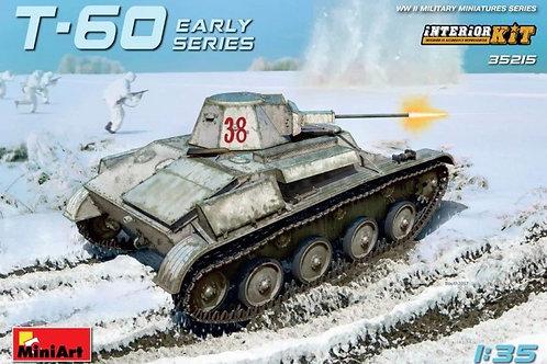 Советский легкий танк Т-60 ранний выпуск, с интерьером - 35215 MiniArt 1/35