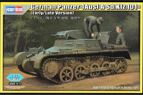 (под заказ) Танк Pz.I Ausf.A ранний/поздний выпуск - Hobby Boss 80145 1:35