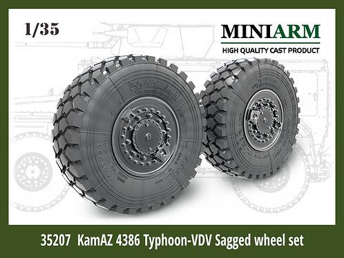 Miniarm 35207 К-4386 Тайфун-ВДВ, колеса Мишлен под нагрузкой, 4 шт - 1:35 b35207