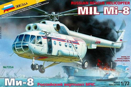 Российский вертолет Ми-8 МЧС - Звезда 7254 1/72