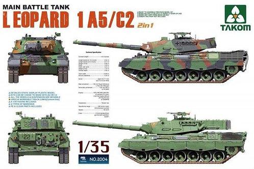 Германский танк Леопард 1 A5 / C2 (2в1), Leopard 1 A5/C2 - Takom 2004 1/35