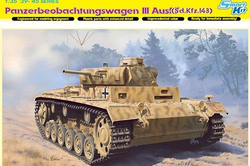 Танк командирский Pz.Beob.Wg. III Ausf.F - Dragon 6792 1:35 (DS траки)
