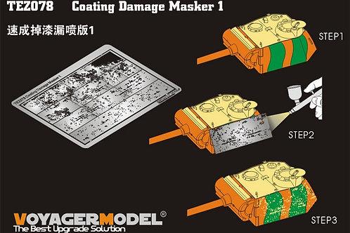 (под заказ) TEZ078 Voyager Model 1/35 Трафарет повреждений Coating Damage Masker