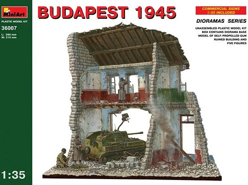 Самоходка СУ-76 + экипаж + диорама со зданием Будапешт 1945 - MiniArt 36007 1:35